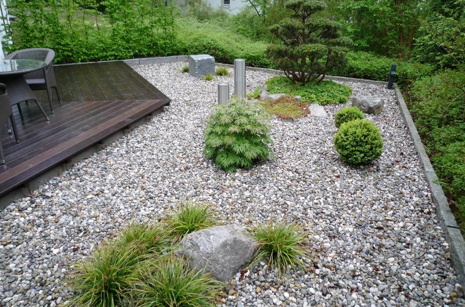 Gartengestaltung mit Kies und Findlingen - Home Garten-Keller